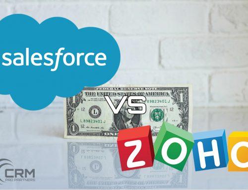 Salesforce vs Zoho Cost Comparison